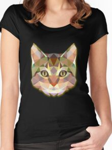 Cat Animals Women's Fitted Scoop T-Shirt
