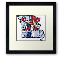 St. Louis Blues/Cardinals Mascot Mash-Up Framed Print