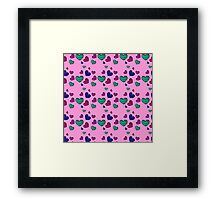 seamless pattern with colorful striped hearts Framed Print