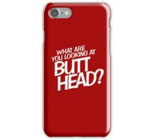 Back to the Future 'Butt Head' quote iPhone Case/Skin
