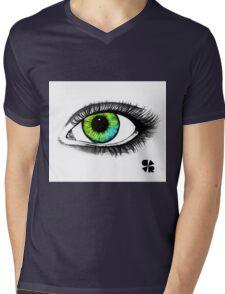 Green & blue eye Mens V-Neck T-Shirt