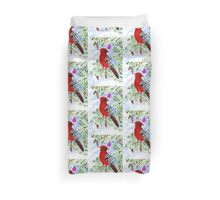 Christmas Red Cardinal Duvet Cover