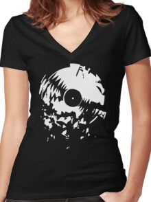 Broken Record Women's Fitted V-Neck T-Shirt