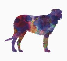 Irish Wolfhound in watercolor Kids Tee