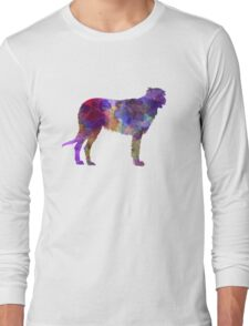 Irish Wolfhound in watercolor Long Sleeve T-Shirt