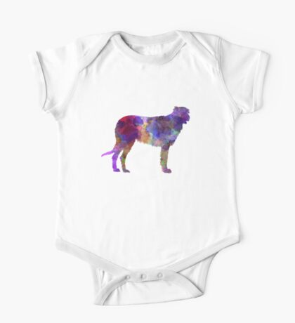Irish Wolfhound in watercolor One Piece - Short Sleeve