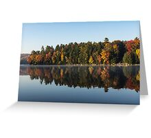 Mirrored Autumn -  Greeting Card