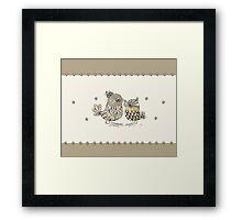 Brown Paper Birds Framed Print
