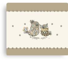 Brown Paper Birds Canvas Print