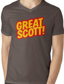 Back to the Future 'Great Scott!' quote Mens V-Neck T-Shirt