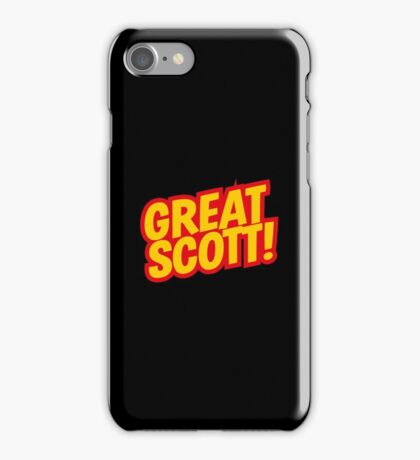 Back to the Future 'Great Scott!' quote iPhone Case/Skin