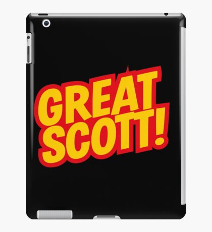 Back to the Future 'Great Scott!' quote iPad Case/Skin