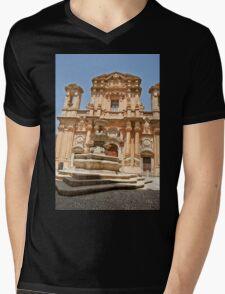 marsala Mens V-Neck T-Shirt