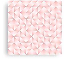 Chic Pastel Geometric Triangles Squares Pattern Canvas Print