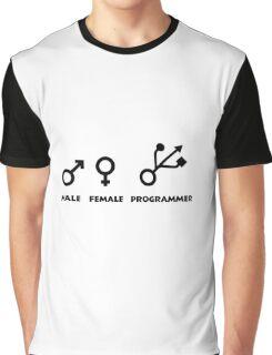 Programming Humor - Male / Female / Programmer Genders Graphic T-Shirt