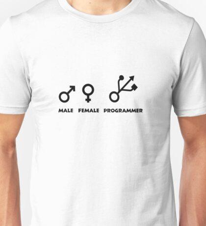Programming Humor - Male / Female / Programmer Genders Unisex T-Shirt