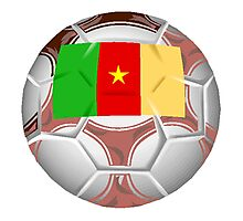 Cameroon Soccer Ball Photographic Print