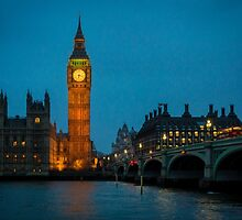 Westminster Skyline at Dusk by Sue Martin