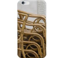 chairs in the street iPhone Case/Skin