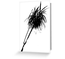 Elegant minimalist palm design in Chinese ink Greeting Card