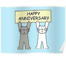 Cats Happy Anniversary Poster