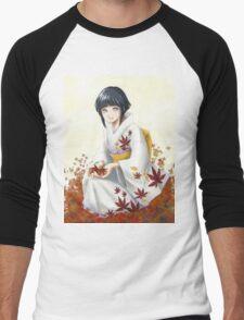 Hinata in the leaves Men's Baseball ¾ T-Shirt