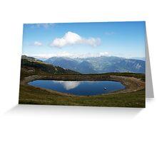 Le lac de l'Arpettaz Greeting Card