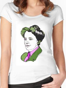 Ethel Smyth English Composer and Suffragette Women's Fitted Scoop T-Shirt