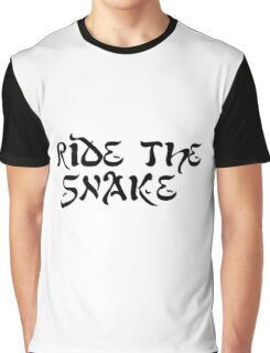 ride the snake the doors song lyrics jim morrison the end rock n roll psychedelic font light my fire hippie t shirts Graphic T-Shirt