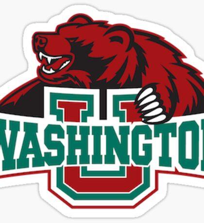 Washington University Bears Logo Sticker