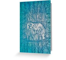 The Unicorn in the Forest Greeting Card