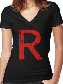 Team R Women's Fitted V-Neck T-Shirt