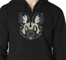 African Painted Dog Zipped Hoodie