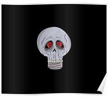 Neon Skull Light Bulb Poster