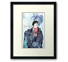 Sherlock - Cloudy Day Framed Print