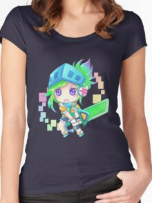 Arcade Chibi Riven Women's Fitted Scoop T-Shirt