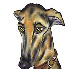 GREYHOUND g916 by Hares & Critters