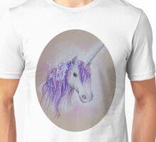 Lilac Dreaming Unicorn Unisex T-Shirt