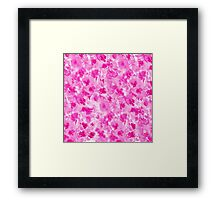 Modern hand painted pink white watercolor flowers Framed Print