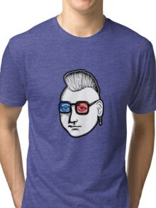 Captain Punk 3D Tri-blend T-Shirt