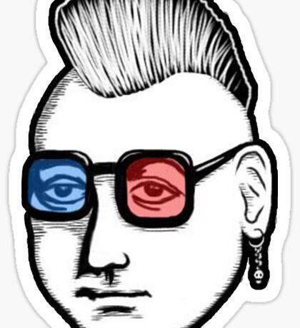 Captain Punk 3D Sticker