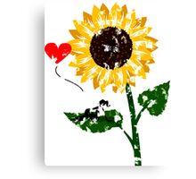 Sunflower Design Version #2 by Mommotti Canvas Print