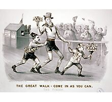 Great walk - come in as you can The finish - 1879 Photographic Print