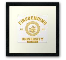 Firebending University Fire Nation - YELLOW Framed Print