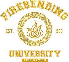 Firebending University Fire Nation - YELLOW Photographic Print