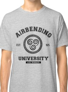 Airbending University Air Nomads -BLACK Classic T-Shirt