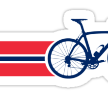 Bike Stripes Norway Sticker