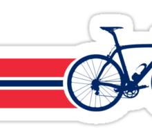 Bike Stripes Norway Sticker