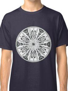 Hamsa Hand Black and White Mandala Classic T-Shirt
