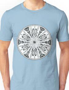 Hamsa Hand Black and White Mandala Unisex T-Shirt